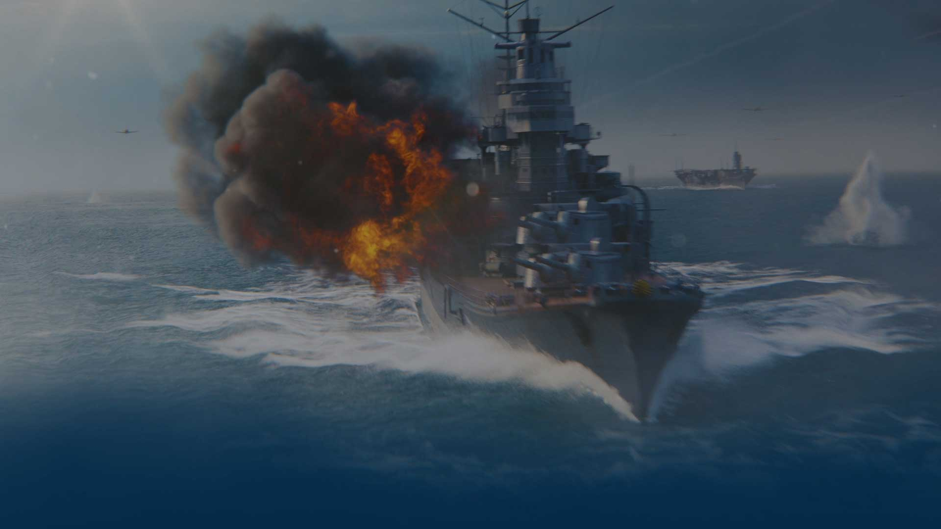 World of Warships Blitz—a mobile navy shooter for iOS and Android devices